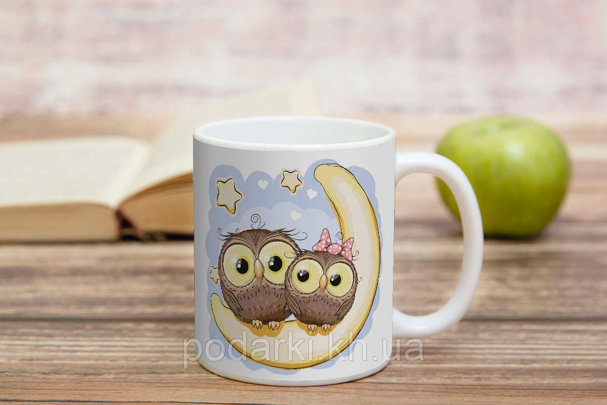 Чашка Совушки к Новому году