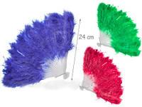 Веер перьевой, одноцветный, 6 видов, в пак. (500 шт./1)