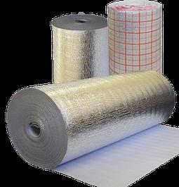 Полотно из вспененного полиэтилена ламинированное металлизированной пленкой