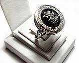 Печатка серебряная Георгий Победоносец с камнями 700200, фото 3