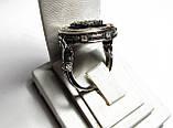 Печатка серебряная Георгий Победоносец с камнями 700200, фото 5