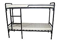 Кровать двухъярусная Хайтек дабл 70/190 (черный металлик)