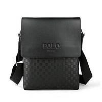 Качественная кожаная сумка Polo Videng New Черный