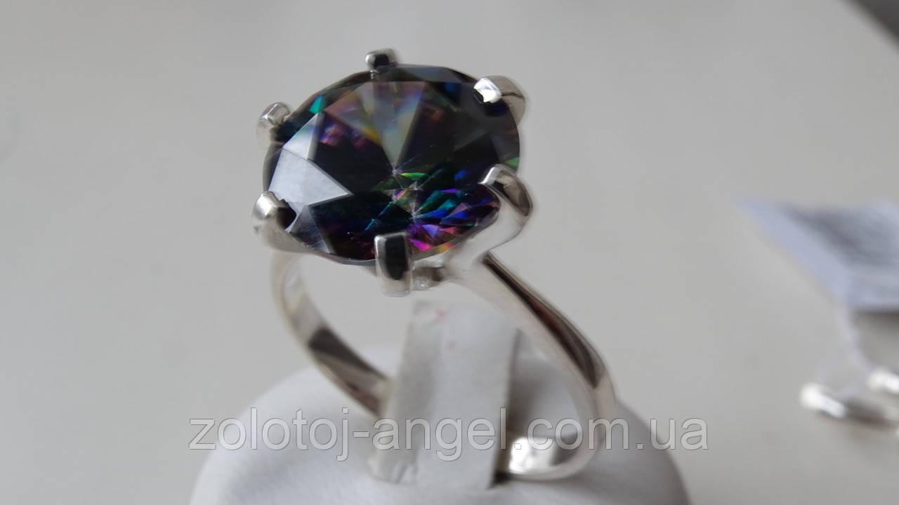 Кольцо серебряное с Мистиком