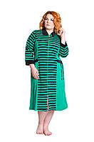 Халат велюровый Донна зеленый 50-60