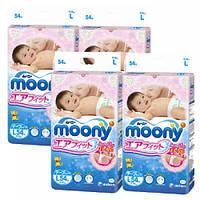 Подгузники Moony (Муни) L (9-14 kg)4 по 54шт. Япония
