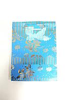 Пакеты из картона 24,5х32х10,5см Большой Голубой
