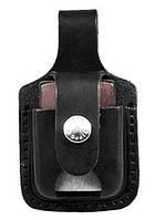 Чехол черный кожаный для зажигалки Zippo LPTBK с прорезью