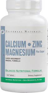 Universal Nutrition CALCIUM ZINC MAGNESIUM 100 таб.