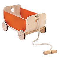 Каталка вагон оранжевая Plan Тoys (8614)