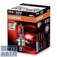 Автолампа Osram H4 12V 60/55W P43T / SUPER- НА 30% БОЛЬШЕ СВЕТА НА ДОРОГЕ