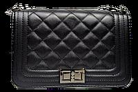 Классическая женская стеганая сумочка черного цвета (16,5х26х7,5 см) GGH-200081