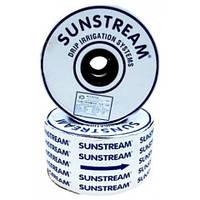 Капельная лента Sunstream  8mil Турция, цельнотянутая бесшовная   10 см, бухта 1500 м/пог, водовылив 1.0  л/час
