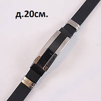 Мужской браслет черного цвета с стальной вставкой, фото 1