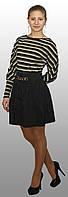 Женское платье с юбкой из плащевки