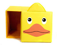 """Детский пуф 3 в 1 (корзина, ящик для игрушек) """"Утка"""" 40*40*40 см"""