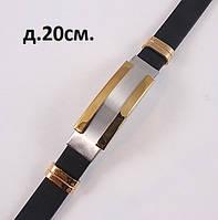 Мужской браслет стального цвета с золотистой вставкой, фото 1