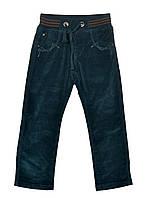Вельветові штани  для хлопчиків на 2-6 років  MIKOJeans темно-зелені