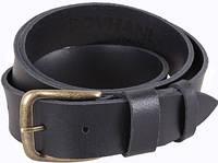 Строгий кожаный мужской ремень DOVHANI SP999-17 ДхШ: 130х4 см, черный