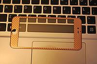 Защитное 3D Fiber Carbon карбон стекло Tempered Glass for IPhone 6 Pink Gold, F2026