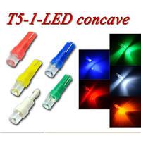 Автомобильная светодиодная лампа 1,2w T10-1LED-вогнутая-12V (производство Китай)