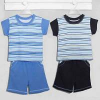 """.Костюм для мальчика -1,2,3лет.код19007, футболка+шорты, """"Хлопок-Кулир"""". В наличии 80,92,104 Рост"""