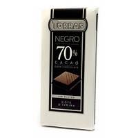 Черный шоколад без глютена Torras Dark chocolate 70% cacao 200 г
