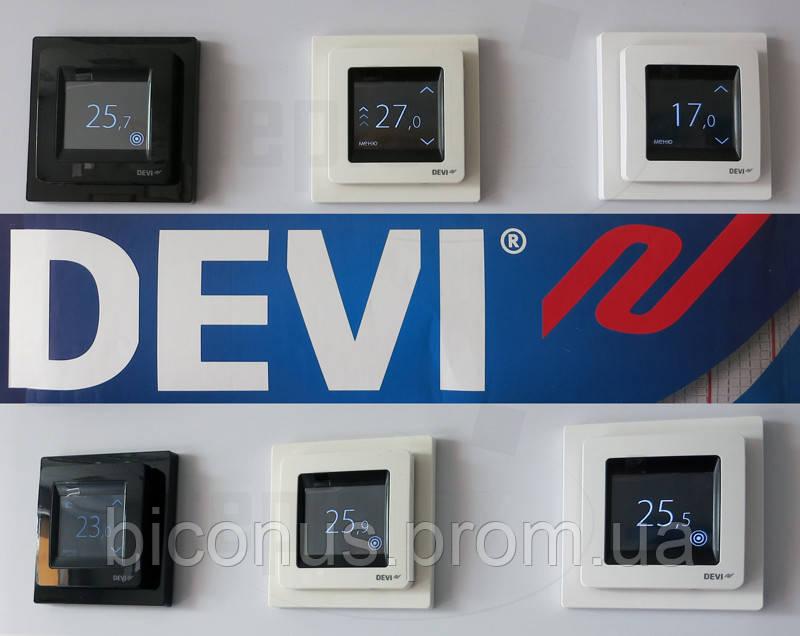 Терморегулятор  электрического пола DEVIreg Touch (белый, черный) Дания