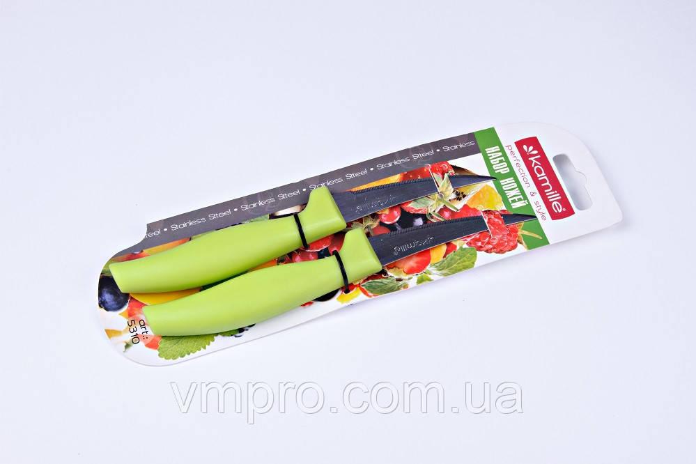 """Ножи """"Kamille"""",ножи с зубчиками,набор 2 шт,19 см,KM-5310"""