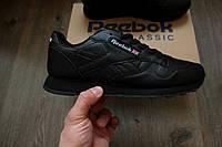 Кроссовки Reebok Classic Black. Живое фото!
