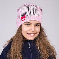Легкая шапка для девочек весна 2017 - Артикул 1786