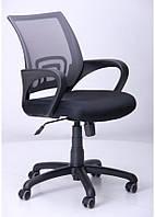 Кресло Веб сиденье Сетка чёрная/спинка Сетка серый