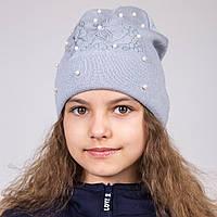 Весенняя шапка с вышивкой для девочек 2017 - Артикул 1994