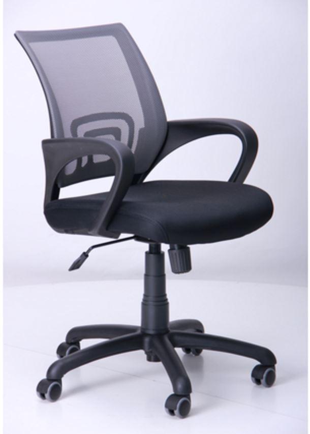 Кресло Веб сиденье Сетка черная/спинка серая