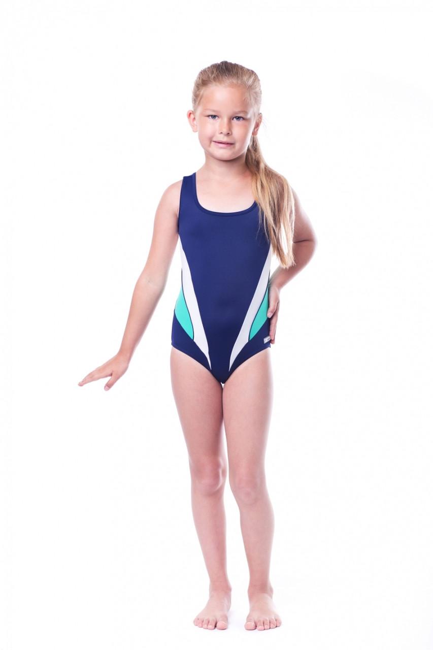 Купальник детский закрытый Shepa 045 (original) цельный, сдельный, слитный для девочки, для бассейна