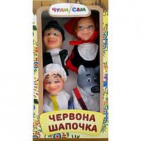 """Кукольный театр """"КРАСНАЯ ШАПОЧКА"""" (4 персонажа), в кор. 33*17*9см"""