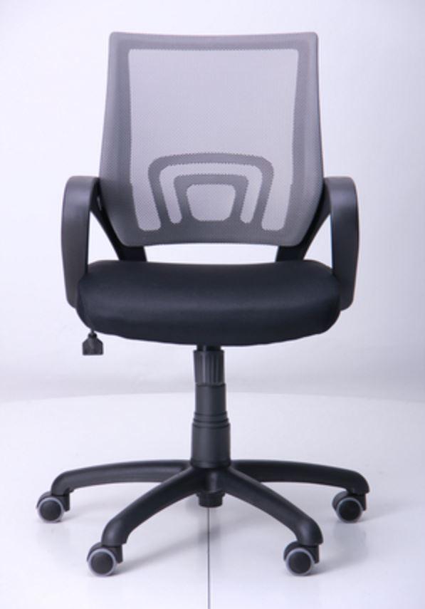 Кресло Веб сиденье Сетка черная/спинка серая (Фото 2)