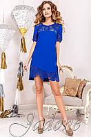 Женская туника Санти_1 электрик Jadone Fashion 50-56 размеры