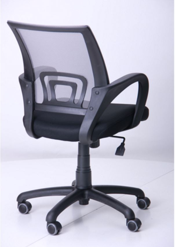Кресло Веб сиденье Сетка черная/спинка серая (Фото 4)
