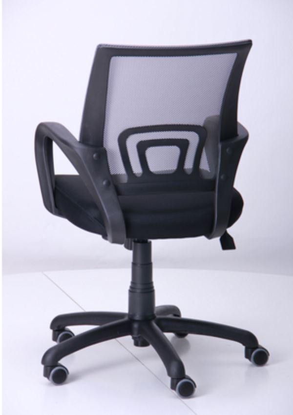 Кресло Веб сиденье Сетка черная/спинка серая (Фото 5)