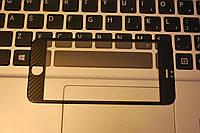 Защитное 3D Fiber Carbon карбон стекло Tempered Glass for IPhone 7 Black, F2035