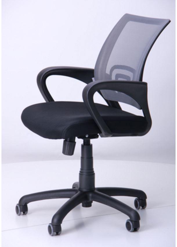 Кресло Веб сиденье Сетка черная/спинка серая  (Фото 7)