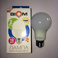 LED ЛЕД светодиодная лампа BIOM БИОМ 10Вт 10W Е27 4500K А60