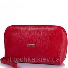 Женская кожаная косметичка desisan shi064-1fl красная