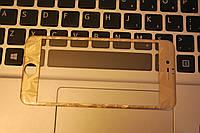 Защитное стекло 3D Fiber гравировка Tempered Glass for IPhone 6 Gold, F2037