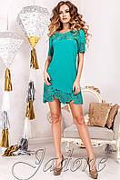Женская бирюзовая туника Санти_1 Jadone Fashion 50-56 размеры