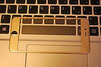 Защитное стекло 3D Fiber гравировка мозаика Tempered Glass for IPhone 6 Gold, F2038