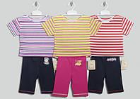 """Костюм для девочек, 1,2,3лет код19025, футболка+треки, """"Кулир+интерлок""""  В наличии 80,92,104 Рост"""