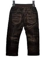 Вельветові штани  для хлопчиків на 2-6 років  MIKOJeans коричневі