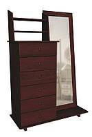"""Современная деревянная мебель для спальни. Трюмо с комодом от мебельной фабрики""""Скиф"""", модель Т-18"""